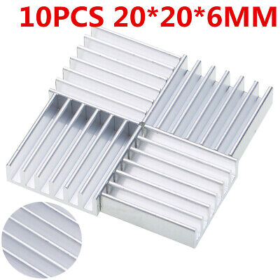 10pcs 20mm x 20mm x 6mm Aluminum Heat Sink For LED Power Memory Chip IC DIY