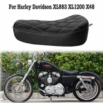 Front Driver Solo Seat Stitched Cushion For HARLEY SPORTSTER 1200 883 48 72 New