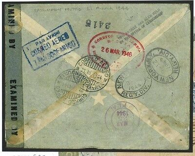 DBU147a 95 1944 COLOMBIA WW2 USA 'Held by Censor' New York/Released 1946