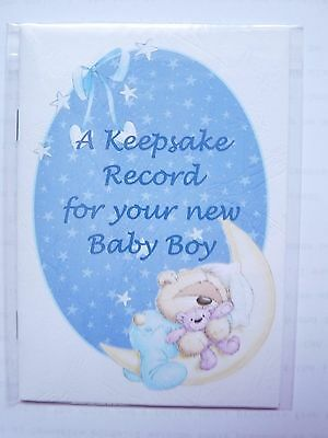 A5 Baby Boy Record Keepsake Book (Handmade)