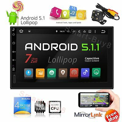 ANDROID 5.1 OS AUTORADIO WiFi 3G GPS NAVI TOUCHSCREEN USB SD BLUETOOTH 2DIN FM