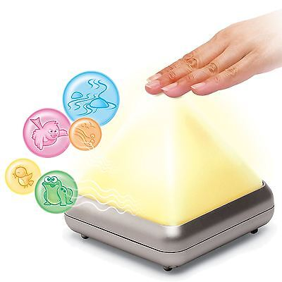 Nature Sounds Pyramid Night Light Colour Changing Glowing Mood Relaxing Tinnitus