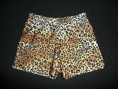 FERREIRA Dance Jazz Leopard Animal Print Shorts Size MC Medium Child