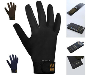 MacWet AquaTec Climatec Long Cuff Gloves Golf Equestrian Fishing Shooting