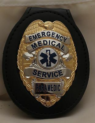 Emergency Medical Service Paramedic on new inletted belt clip Gold