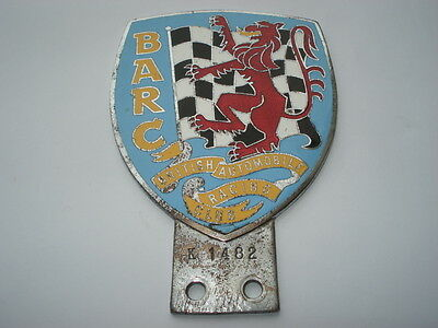 C1950S Barc(British Automobile Racing Club)Enamel Badge Bar Fitting Car Badge