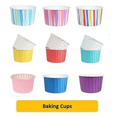 CULPITT 24 x BAKING CUPS (Cake Decorating/Cupcake Cases/Muffins/Baking/Coloured)