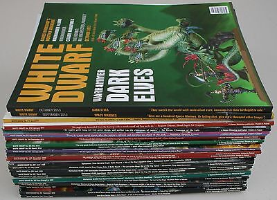 Lot of 25 Issues of White Dwarf Games Workshop Magazine 2008 - 2013