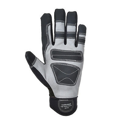 Portwest Unisex Tradesman High Performance Glove Blk/Red/Ylw Various Size A710