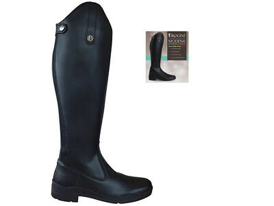 Brogini Modena Long Riding Boots Black - Calf Sizes Free Delivery