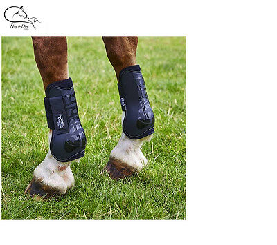 Horse Cob Equestrian Tendon Boots, Memory Foam Lined Black FREE DELIVERY