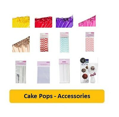 CAKE POPS (Cake Decorating/Baking/Coloured/Straws/Sticks/Stands/Gift Bags/Cello)