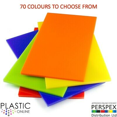 5mm Colour Perspex Acrylic Sheet Plastic Panel 47 DIFFERENT COLOURS A5 A4 A3