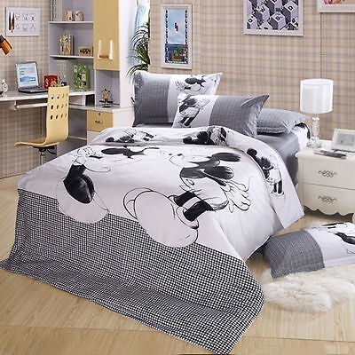 Soft cotton Mickey Mouse cover set bed sheet Bedding Set cover set New Cartton
