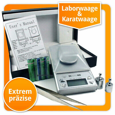 0.001g Digitalwaage Laborwaage Feinwaage Karatwaage Digitale Waage Diamantwaage
