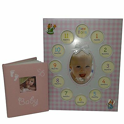Baby Gifts Photo Album With Frame For Girl - Good For Baby Shower Gifts - First