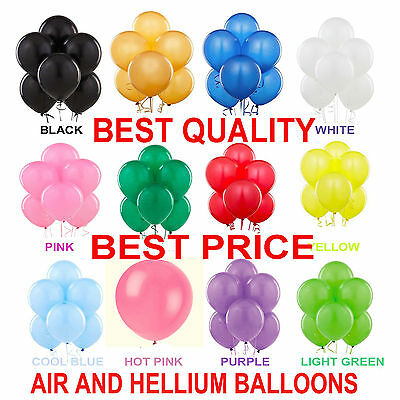 100 Large PLAIN BALLOONS BALLONS helium BALLOON Quality Party Birthday Wedding