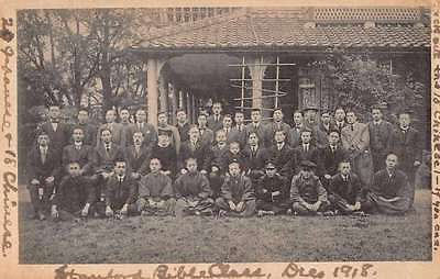 Stanford Bible Class 1918 Japanese Chinese Students Antique Postcard J65195