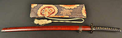 Antique Japanese Sword Beautiful Old Mounts Signed Shinto Katana Needs Polishing