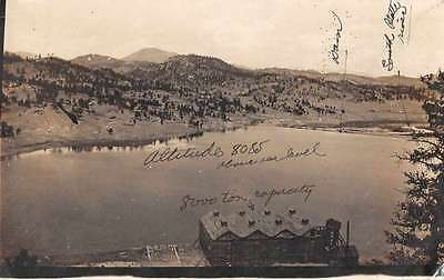 South Platte River Logging? Birds Eye View Real Photo Antique Postcard J65248