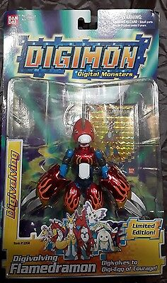 digimon digivolving Flamedramon digivolves to digiegg of courage Limited Edition