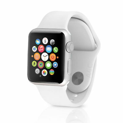 Apple Watch Sport w/ 38mm Silver Aluminum Case & White Band MJ2T2LL/A