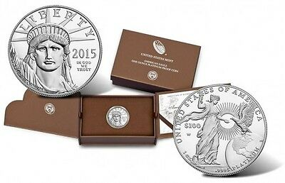 SEALED 2015 American Eagle 1 Oz Platinum Proof RARE First Strike Eligible