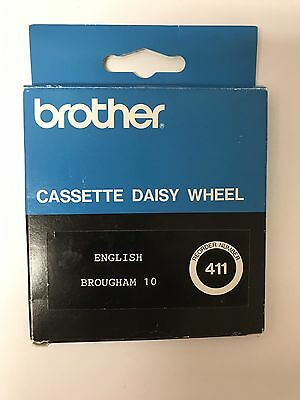 New Vintage Brother 411 Cassette Daisy Wheel ENGLISH BROUGHAM 10