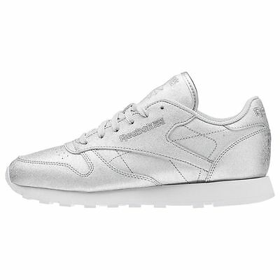 best sale 50% price lace up in WOMEN'S CLASSIC LEATHER Diamond Silver / BD5757 / Reebok CL ...