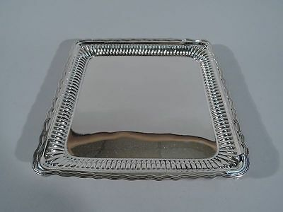 Gorham Salver - Antique Square Tray Wavy Rim - American Sterling Silver - 1884