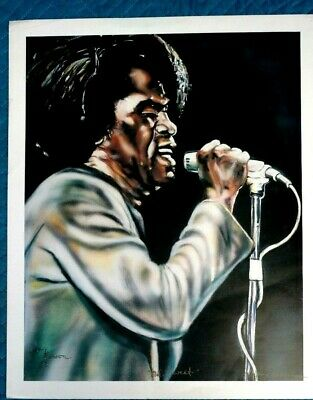 Art Print James Brown Cold Sweat African American Art Signed Larry Denson