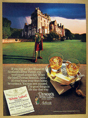 1984 Glen House scotland photo Dewar's White Label Scotch vintage print Ad