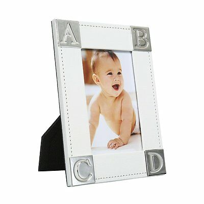 """Elegant Baby Photo Frame 4x6"""" Perfect Gift for a Boy or Girl Newborn with Silver"""