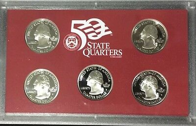 Lot Of 4 2006 US Proof Silver Quarter Sets With Box & Papers 90% Silver