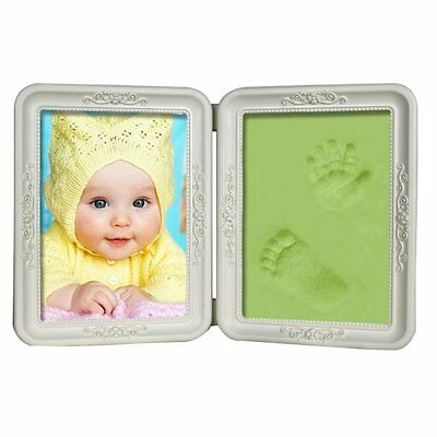 LSHCX Clay Baby Handprint & Footprint Desktop Picture Frame Green