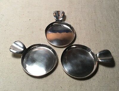 The Kalo Shop Antique Chicago Hand Wrought Sterling Silver Set 3 Ash Trays