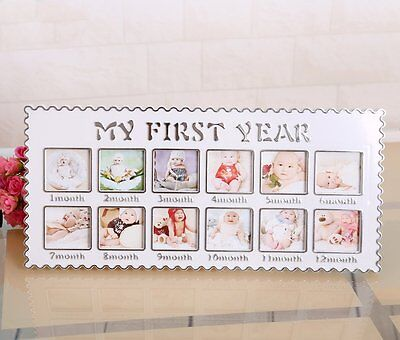 willway First Year Baby Photo Frame 12 Photo Moments Frame Baby Keepsake Frame