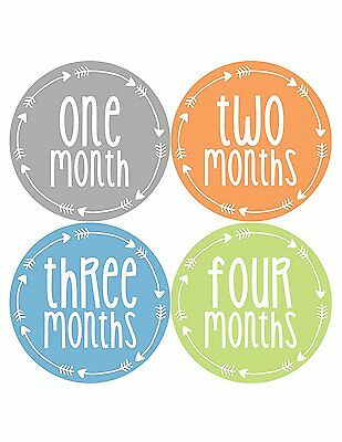 Months in Motion 1022 Monthly Baby Stickers Baby Boy Month 1-12 Milestone