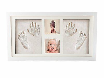 Premium Newborn Baby Hand print and Footprint Photo Frame Kit - Cool & Unique ,