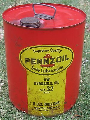 Pennzoil Oil City Pa Hydraulic Oil 5 Gallon Can