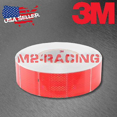 "3M Diamond Grade Red Conspicuity Tape 2"" x 2"" CE Approved Reflective Safety"