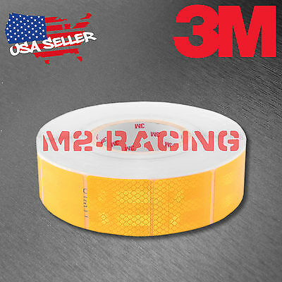 "3M Diamond Grade Golden Yellow Conspicuity Tape 2"" x 2"" CE Approved Reflective"