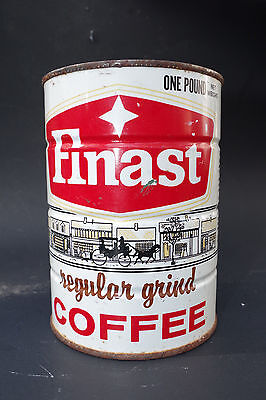 Vintage FINAST Coffee First National Stores Somerville Boston MA 1 lb One Pound