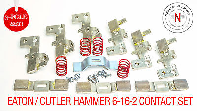 Eaton Cutler Hammer 6-16-2 Contact Kit, Nema Size 3, Old Style Series, 3-Poles