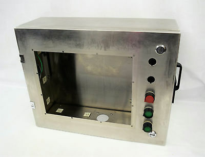 """Stainless Steel Monitor/Control Enclosure Exterior 23""""W x 6-7/8""""D x 15-7/8""""H"""