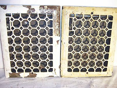 antique victorian heat grate vent register cold 1800s ornate wall 14x11 RO 12x9