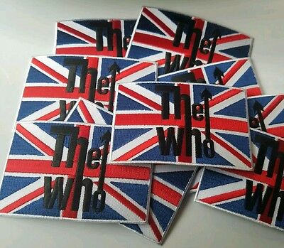 The Who Rock Patch New Townsend Iron On Embroidered Union Jack
