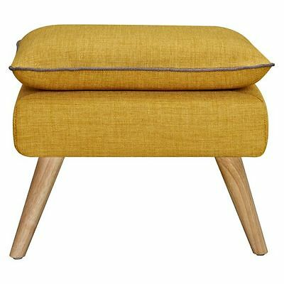NEW 6ixty Luxe Ottoman, Yellow