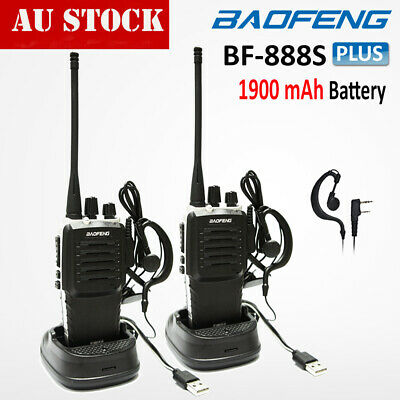 2pcs Baofeng Pofung BF-888S Two Way Ham Radio UHF 400-470MHZ Walkie Talkie 16CH