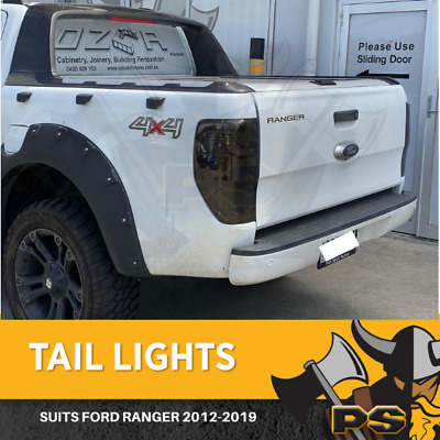 Smoked Black Tail Lights for Ford Ranger 2011-2018 PX MK2 All Models